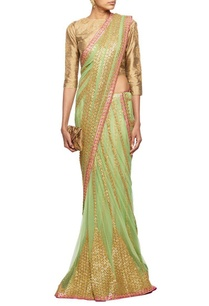 mint-green-gota-embroidered-lehenga-sari