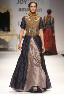 indigo-embroidered-anarkali-with-grey-skirt