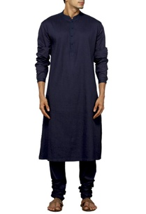 navy-blue-pleated-kurta-set