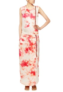 off-white-satin-with-red-tie-and-dye-blotches-straight-fit-dress
