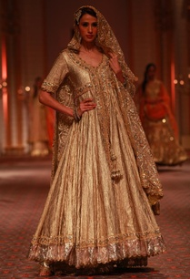 beige-shimmer-embroidered-anarkali-with-dupatta