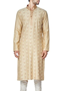 beige-cotton-silk-embroidered-kurta-set