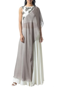 ivory-beaded-blouse-with-asymmetrical-drape