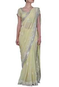 pale-lime-green-floral-embellished-sari