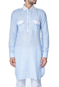 blue-and-white-checked-kurta