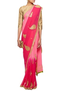 shaded-pink-gota-embroidered-sari