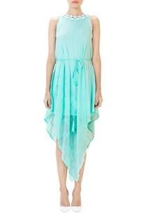 aqua-blue-cutwork-embroidered-dress