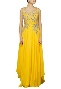 canary-yellow-floral-zardosi-embroidered-anarkali-set