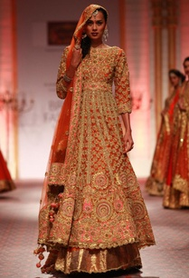 orange-and-gold-embroidered-anarkali-with-lehenga-dupatta