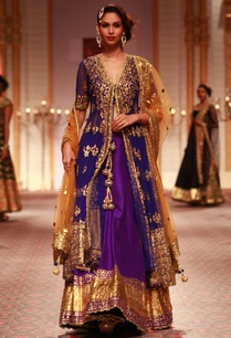 deep-blue-embroidered-jacket-with-lehenga-beige-dupatta