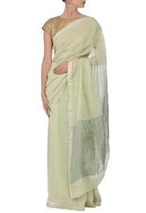 sage-green-mint-linen-sari