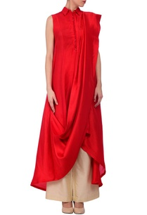 red-teal-draped-tunic-with-cream-palazzos