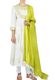 chanderi-anarkali-with-cropped-pants-dupatta