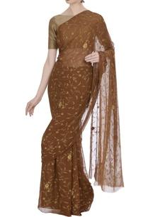 pure-chiffon-resham-saree-with-unstitched-blouse