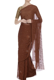chiffon-hand-resham-embroidered-saree-with-unstitched-blouse