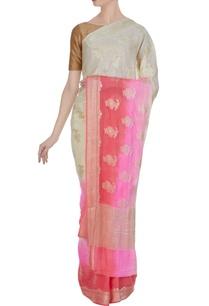 khadi-pure-georgette-paisley-saree-unstitched-blouse