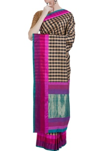 banarasi-silk-check-saree-unstitched-blouse
