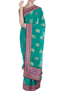 khadi-georgette-paisley-saree-unstitched-blouse