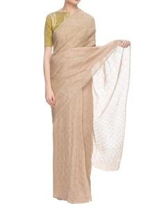 beige-handwoven-linen-sari