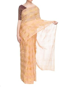 orange-gold-silk-handwoven-sari