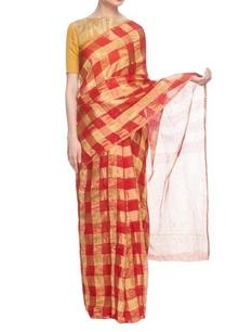 red-gold-silk-handwoven-sari