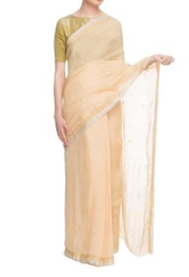 butter-yellow-handwoven-linen-sari