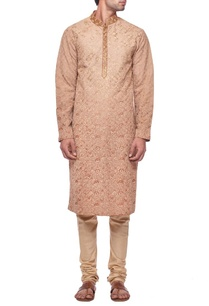beige-geometric-embroidered-kurta-set
