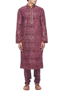 deep-plum-embroidered-kurta-set