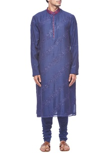 deep-blue-embroidered-kurta-set