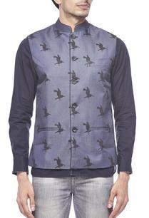 grey-bird-printed-waistcoat