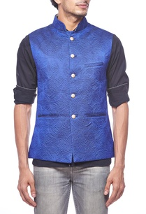 royal-blue-quilted-waistcoat