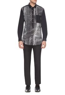 black-white-zigzag-print-shirt