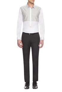 white-grey-checks-yoke-shirt