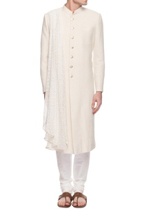 ivory-sherwani-with-gold-button-detailing