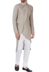 grey-draped-kurta