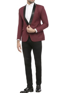maroon-suiting-fabric-solid-jacket