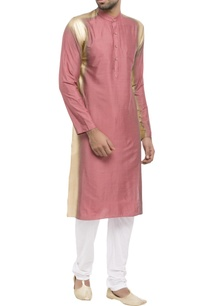 pink-cotton-silk-spray-paint-kurta