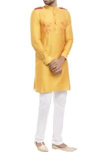 yellow-cotton-silk-worli-print-kurta