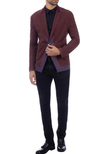 purple-brown-single-button-blazer