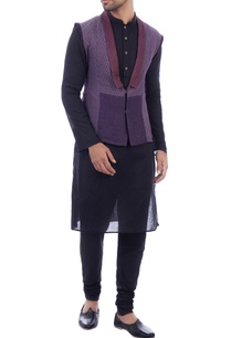 purple-chanderi-sleeveless-jacket
