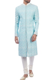 blue-jacquard-embroidered-sherwani