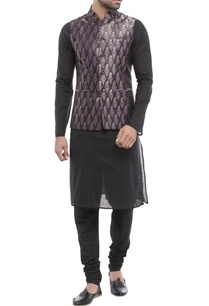 metallic-purple-nehru-jacket
