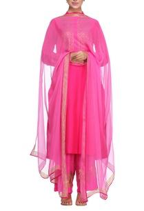 pink-metal-embroidered-cotton-kurta-set