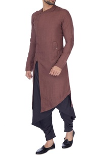 copper-solid-layered-kurta