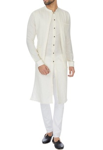 ivory-double-layer-linen-kurta