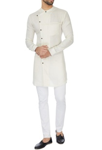 white-cross-over-wrap-linen-kurta