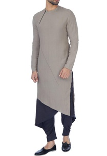 grey-navy-blue-layered-kurta