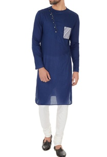blue-cotton-print-details-kurta-with-off-white-cotton-silk-churidar