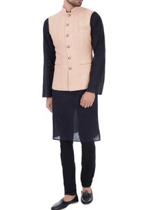 rose-peach-dori-embroidered-nehru-jacket