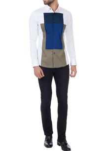 white-dress-shirt-with-geometric-color-block-patterns